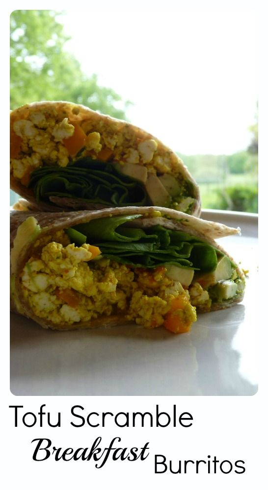 Tofu Scramble Breakfast Burrito  I love this Tofu Scramble, it' easy, quick & tasty & makes a yummy vegan savoury breakkie.