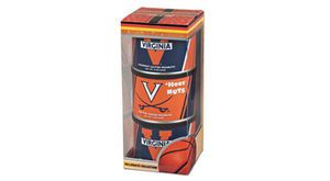 Virginia Diner University of Virginia Basketball Triplet. Perfect for the Cavs fan on your list. Two 10-ounce cans of blistered salted peanuts and one 10-ounce can of crunchy butter toasted peanuts. University of Virginia labeled treats perfect to enjoy during another season of UVA basketball.