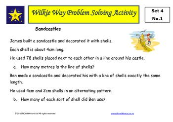 The fourth set of Wilkie Way problem solving activities for mastery of mathematics with a focus on measurement.These problems provide students the opportunity to apply known mathematics, create new mathematics and develop a deeper understanding of mathematical concepts.These tasks can be used with whole class with students working in pairs or small groups.