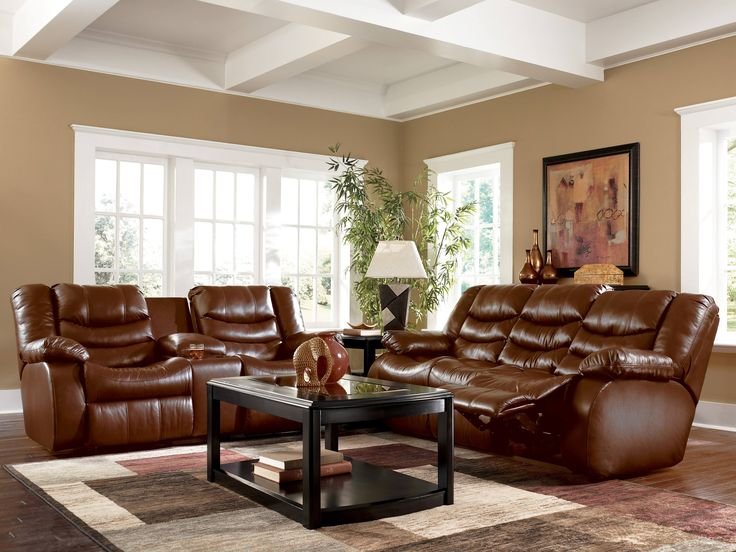 Marvelous Stunning Brown Leather Living Room Set Gallery Home Design Ideas