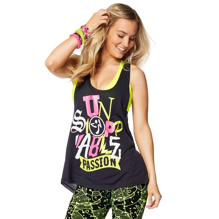 ZUMBA PASSION LOOSE TANK - BACK TO BLACK ---------------------- Let your Zumba® love do the talking in the Zumba Passion Loose Tank. With dropped armholes and an oversized fit for extreme comfort, this lightweight tank is a workout must-have.