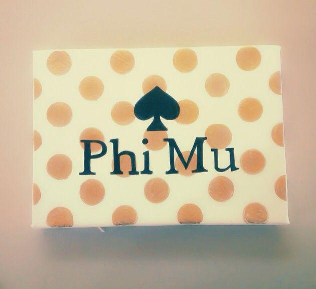 Kate Spade themed Phi MU canvas