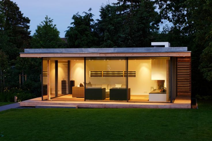 Finde moderner Garten Designs: Moderner Gartenpavillion im nördlichen Ruhrgebiet. Entdecke die schönsten Bilder zur Inspiration für die Gestaltung deines Traumhauses.