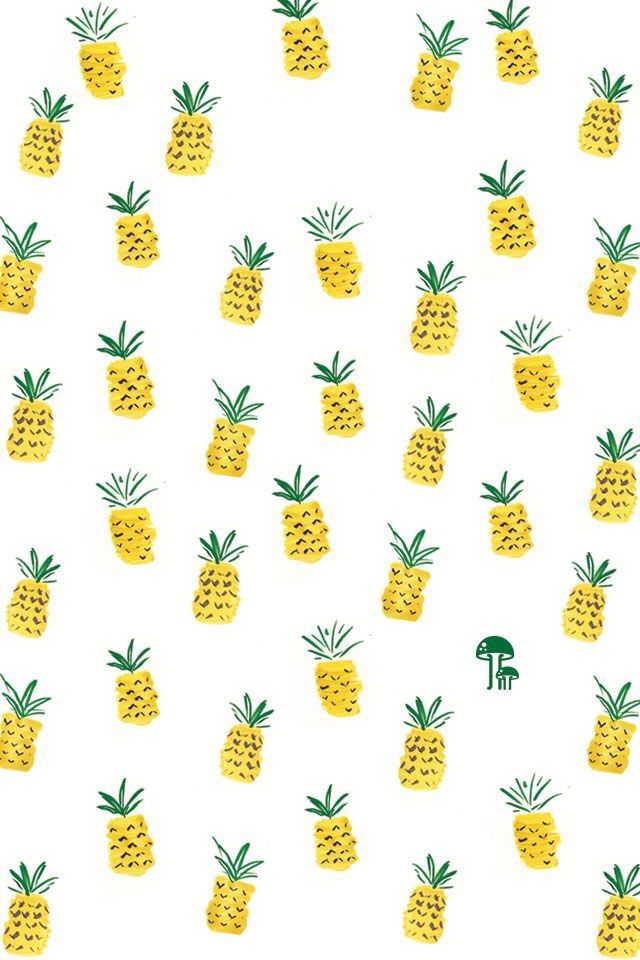 Cute pineapple background | Backgrounds | Pinterest | Free ...