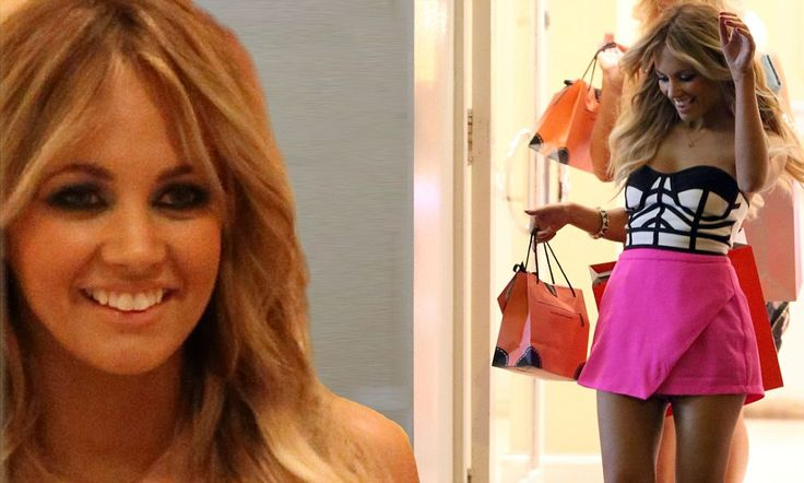 Samantha Jade films shopping scenes for her new 'Up' music video