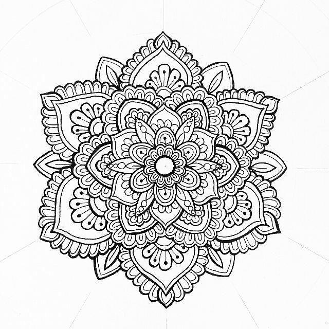 Mandala Tattoo Mandalatattoo Mandala Zum Ausdrucken Mandala Malen Anleitung Mandala Tatowierung