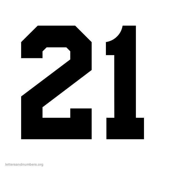 printable 21 number (black) - Google Search | Jassie ...