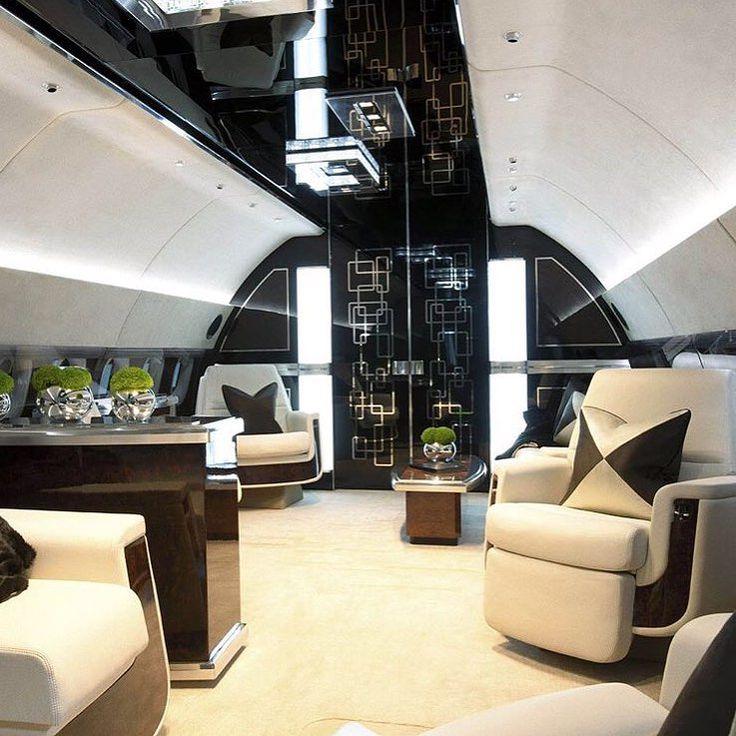 "World Wide Luxury on Instagram: ""Private Jet Interior ✈️ Follow @worldwide_wow #worldwideluxury #worldwidewow"""