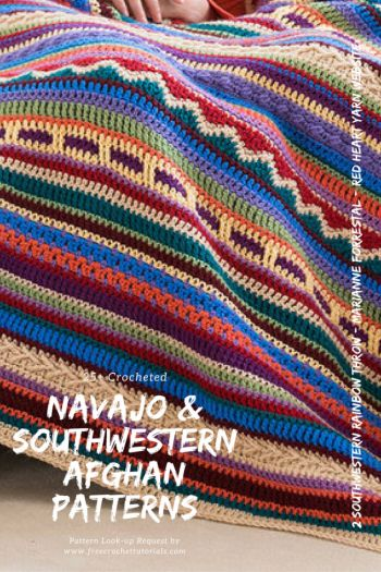 This week we have had a request from Rita for some ideas for Southwestern Style or Navajo Blanket and Afghan patterns. I've searched on a few sources online to find a collection of patterns for this theme. I hope you find one you like in this collection. Most of these designs are free crochet patterns but some premium patterns are also available. via @freecrochettuts