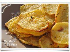 Chips de pomme de terre au four