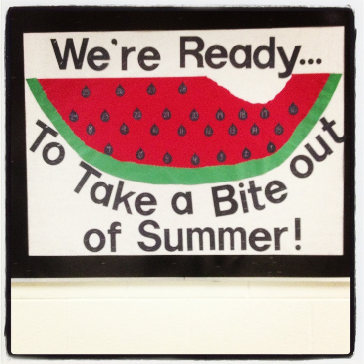 Countdown to summer bulletin board