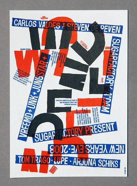 Job Wouters (Letman), Lettering for MRKMLN, 2008, risograph print
