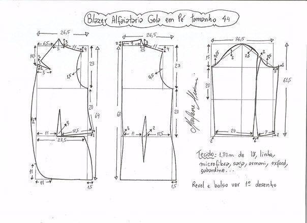 Выкройка жакета женского (Шитье и крой)   Журнал Вдохновение Рукодельницы
