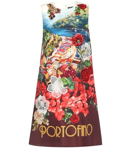 Multicolored Dolce & gabbana  casual dress  for woman Multicoloured Printed Silk Dress With Appliqué By Dolce & Gabbana #vestidoinformal #camisole #túnica #shift #pleat #pleated #drape #t-shape #daisy #foldedshoulder #summer #loosefit #tunictop #swing #day #offtheshoulder #smock #print #printed #tea #babydolldress #polodress #pansybow #sundress #offshoulder