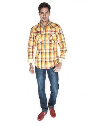 Giorgio di mare camisa cuadros | yellow