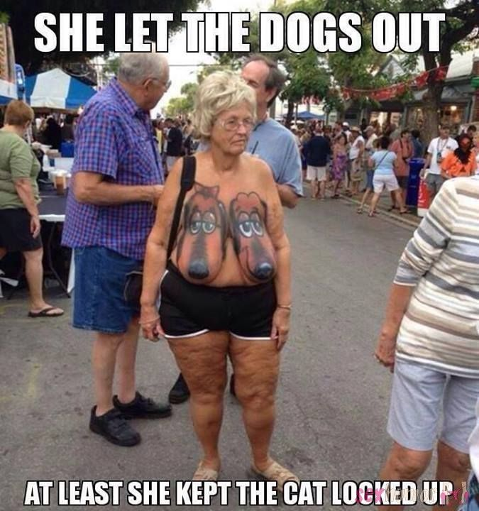 Who let the dogs out? She did.