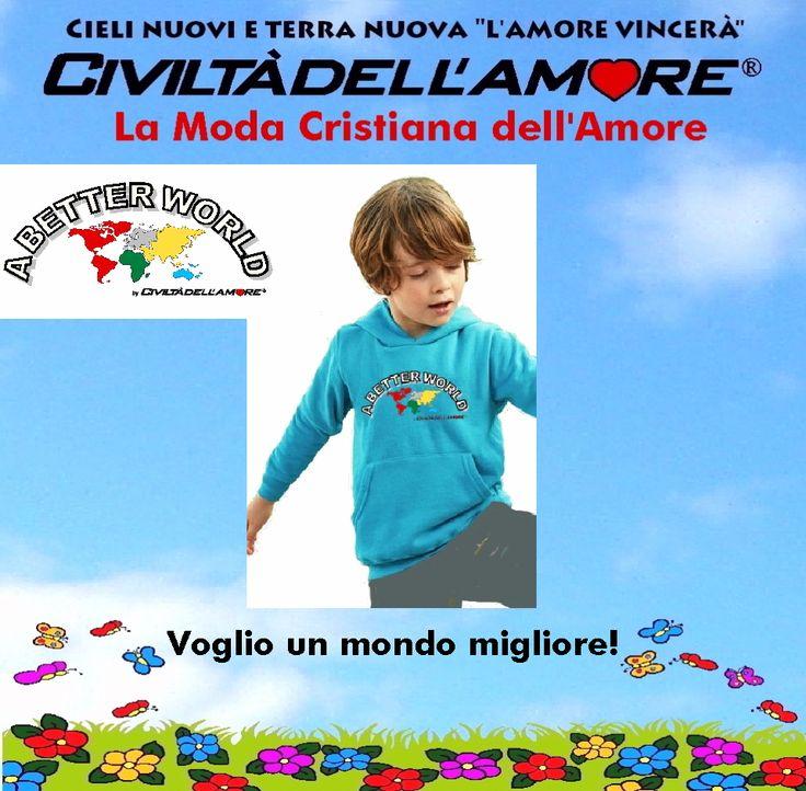 I bambini sono in cerca di un mondo migliore!  Per l'acquisto segui questa guida: http://www.civiltadellamore.net/guida-allacquisto/