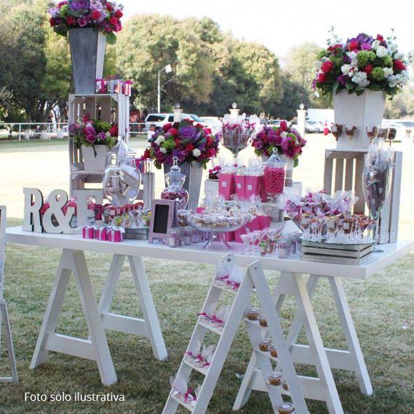Las 25 mejores ideas sobre mesas de dulces de boda en - Cosas para preparar una boda ...
