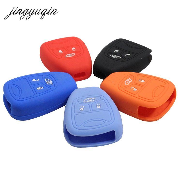 jingyuqin 30pcs/lot Silicone 3/4 Button Remote Key Case Fob Cover For Jeep /Commander /Cherokee /Wrangler #Affiliate
