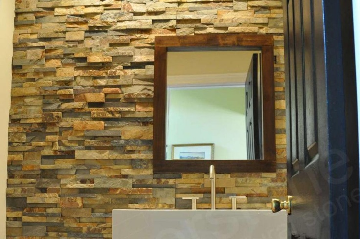 Bathroom Backsplash Tile Pinterest Rock Panel Stone