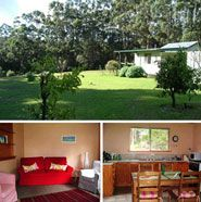 Karrilup Cottage, Greens Pool, Denmark. Western Australia  The Old Telegraph Cottage tucked away in a tranquil paddock setting, surrounded by Karri forests and creeks. This Historical cottage has 1 bedroom with a double bed plus sleeper couch, sleeping 4.It is 10 minutes drive from Denmark, Greens Pool and other bathing and surfing beaches. There is direct access to the historical Heritage Trail for cycling and walking. Organic produce of veggies, fruit and eggs are available in season.