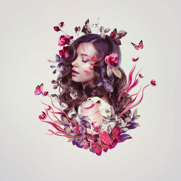 How to Create a Floral Portrait Photo Manipulation in Adobe Photoshop  Design Envato Tuts Design & Illustration