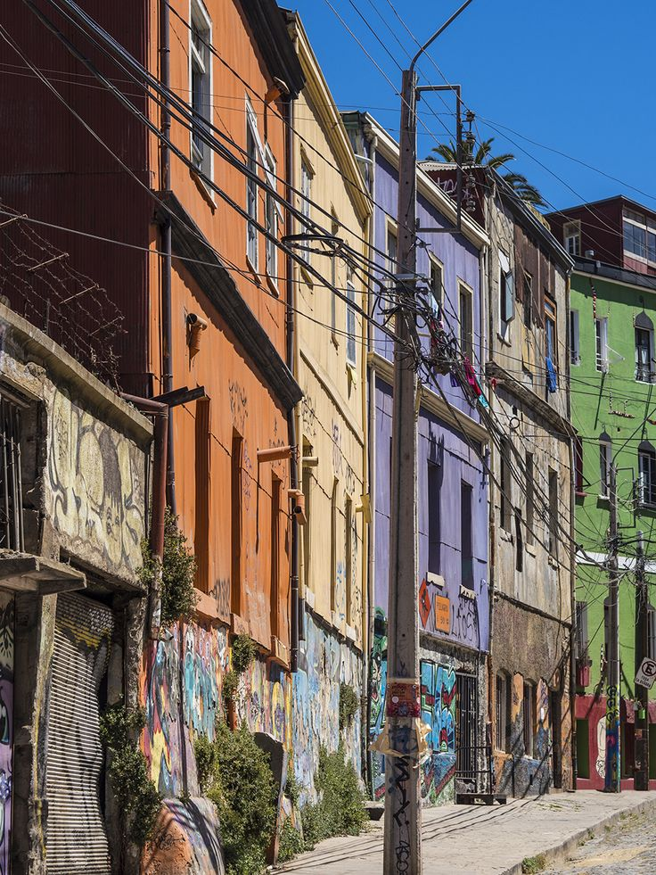Colourful Buildings of Valpariso.