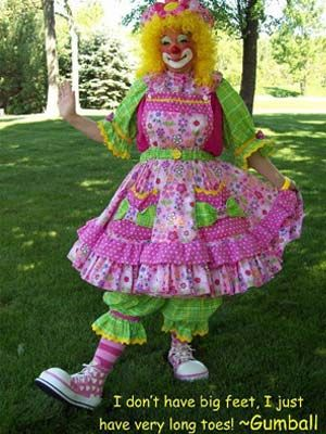 instruction on professional clown make up   Star Talent