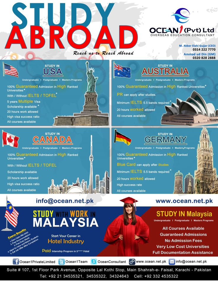 Image by Ocean 1 Private Limited on STUDY ABROAD
