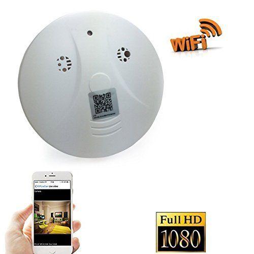 D-eyecam WiFi Hidden Camera Smoke Detector Nanny Spy Cam