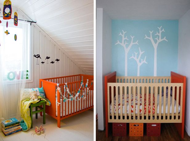 Um berço colorido pode deixar o quartinho do bebê moderno, descolado, original... E muito charmoso! Veja opções coloridas para o quarto do bebê