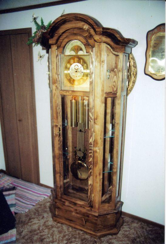 Grandfather Clocks on stage