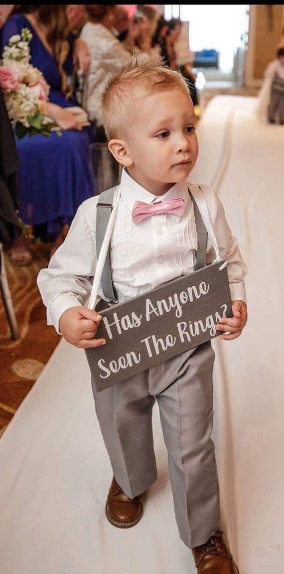 Junior Groomsmen Sign RING BEARER SIGN Wedding Sign Wedding Sign