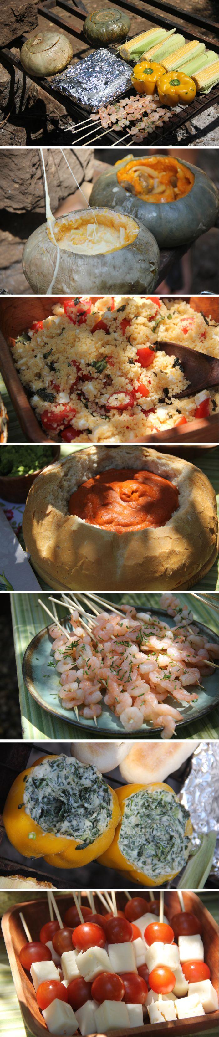 Verduras a la Parrilla Zapallo, choclo, dip de espinaca
