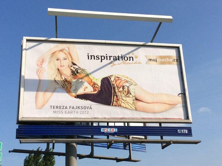Zajišťovaly jsme modelku Miss Earth 2012 Terezu Fajksovou pro outdoorovou kampaň INSPIRATION BY MUCHA.  #MissEarth #fashioncollection
