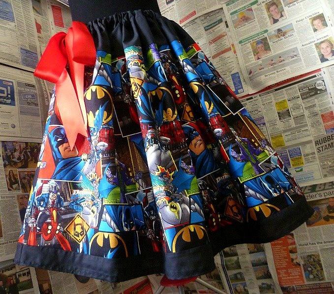 Batman Skirt, Batman Clothing, Batman Dress, Geek Clothing, Womens Skirts, ROOBYS SKIRTS. £40.00, via Etsy.