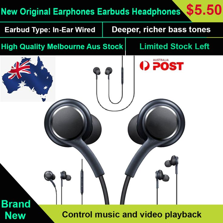 Earphones For S8 + Note 8 S9 Plus Galaxy Mic HEADSET Headphones Android New