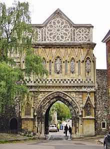 St Ethelbert's Gate in Norwich, England, built in the 1270s