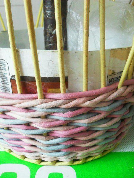 фото мк. как я плету ситцевое три через одну | 7 фотографий