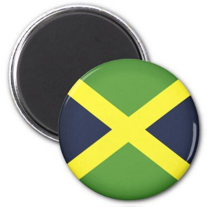 #Flag of Jamaica Magnet - #travel #trip #journey #tour #voyage #vacationtrip #vaction #traveling #travelling #gifts #giftideas #idea