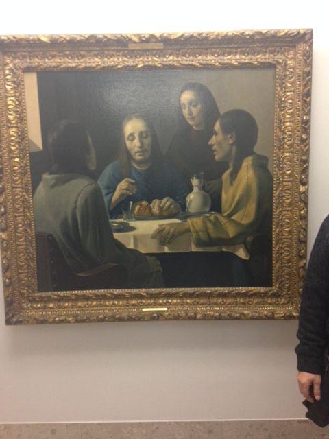 Een schilderij van Han van Meegeren. Dit schilderij heet de Emmausgangers