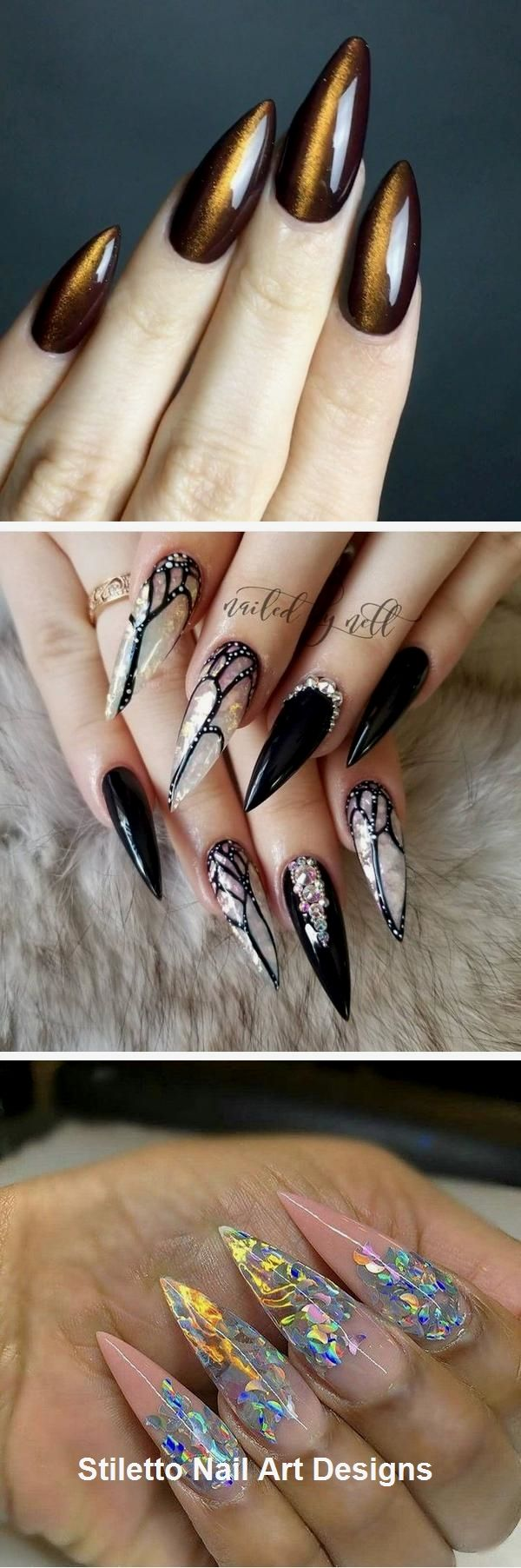 30 Ideen für großartige Stiletto-Nageldesigns #nailart #stiletto – nail art