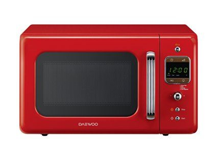Daewoo Retro Microwave Oven, Red
