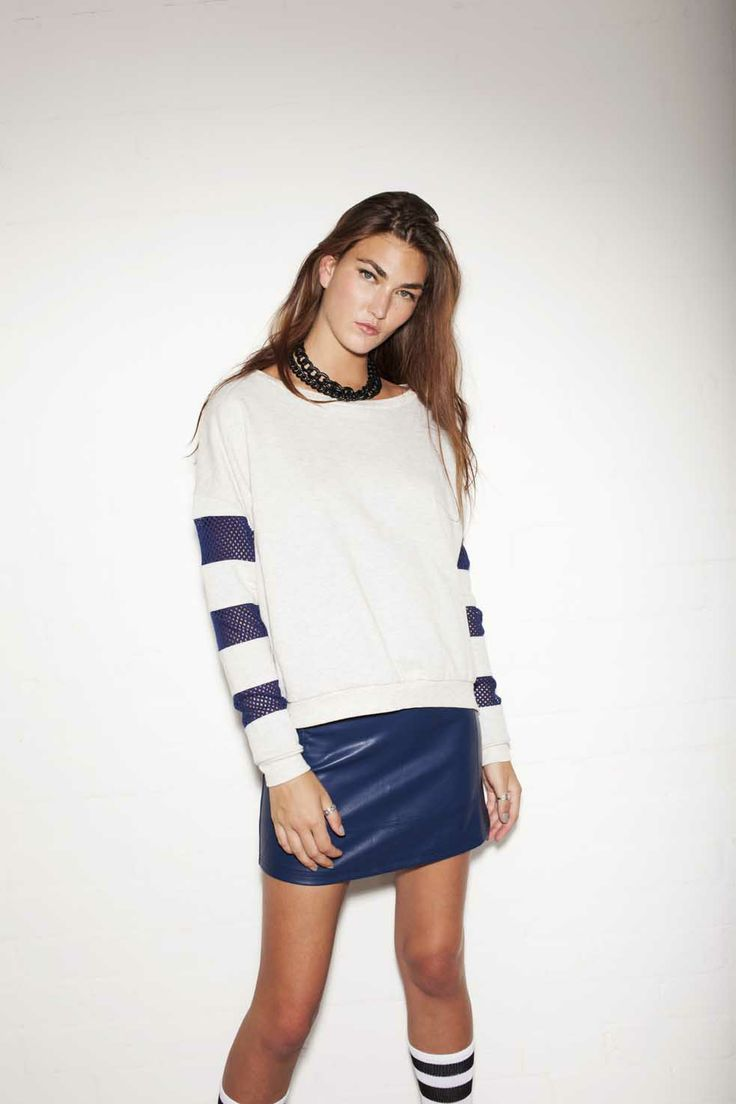 Evil Twin the Label 'Fixed Fight' Jumper & 'Other Side' PU Skirt