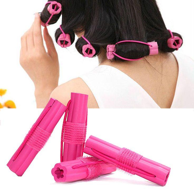 6 Pcs/Set Magic Sponge Foam Cushion Hair Styling Rollers Curler Twist Hair Care