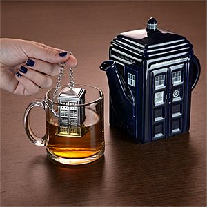 Teach your tea to time travel. Day 10 of the 12 Days of Doctor Who! Enter by 6pm ET 11/21 for your chance to win DW goodies, like the TARDIS Tea Infuser: http://j.mp/19kztyA