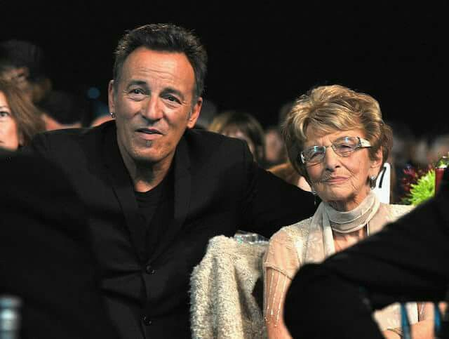 Bruce Springsteen and his mom, Adele.                                                                                                                                                                                 More