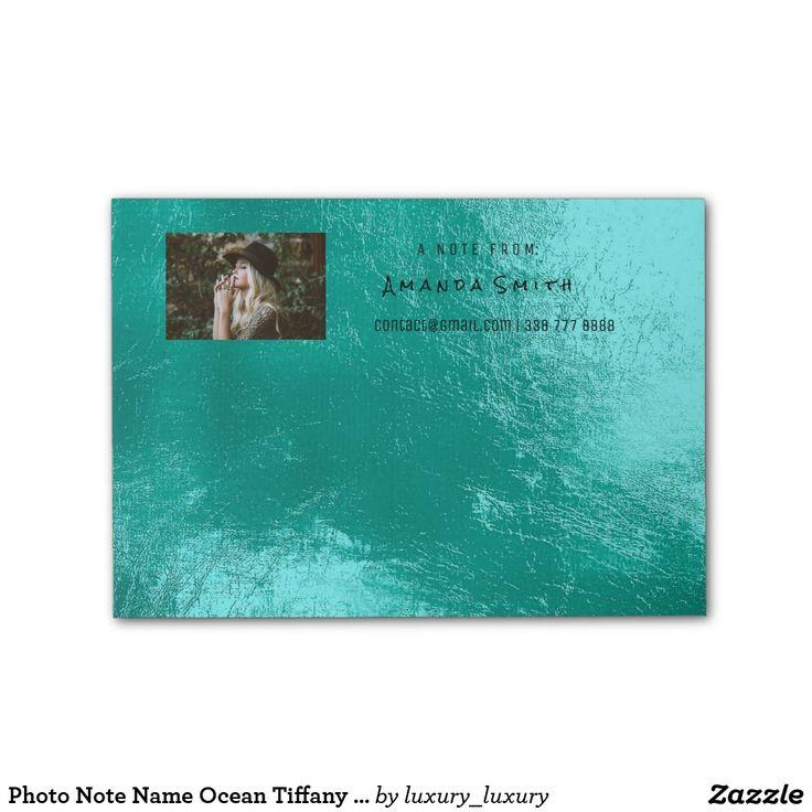 Photo Note Name Ocean Tiffany Aqua Metallic Post-it® Notes