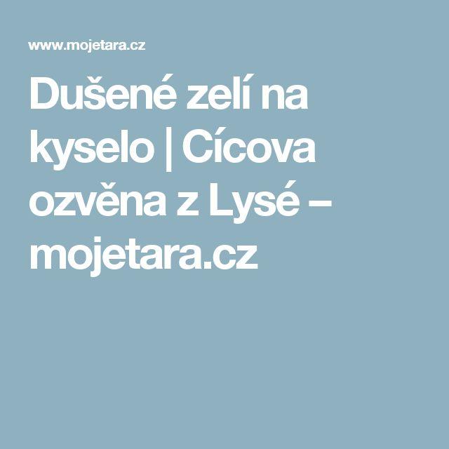 Dušené zelí na kyselo | Cícova ozvěna zLysé – mojetara.cz