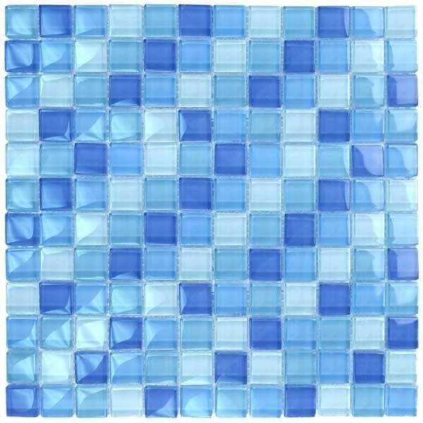 Blue Blend Glass Tile Blend 1 x 1